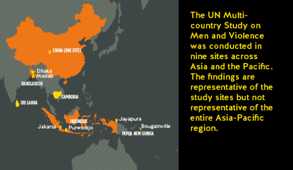 Map Of Asia Un.The Un Multi Country Study On Men And Violence In Asia And The